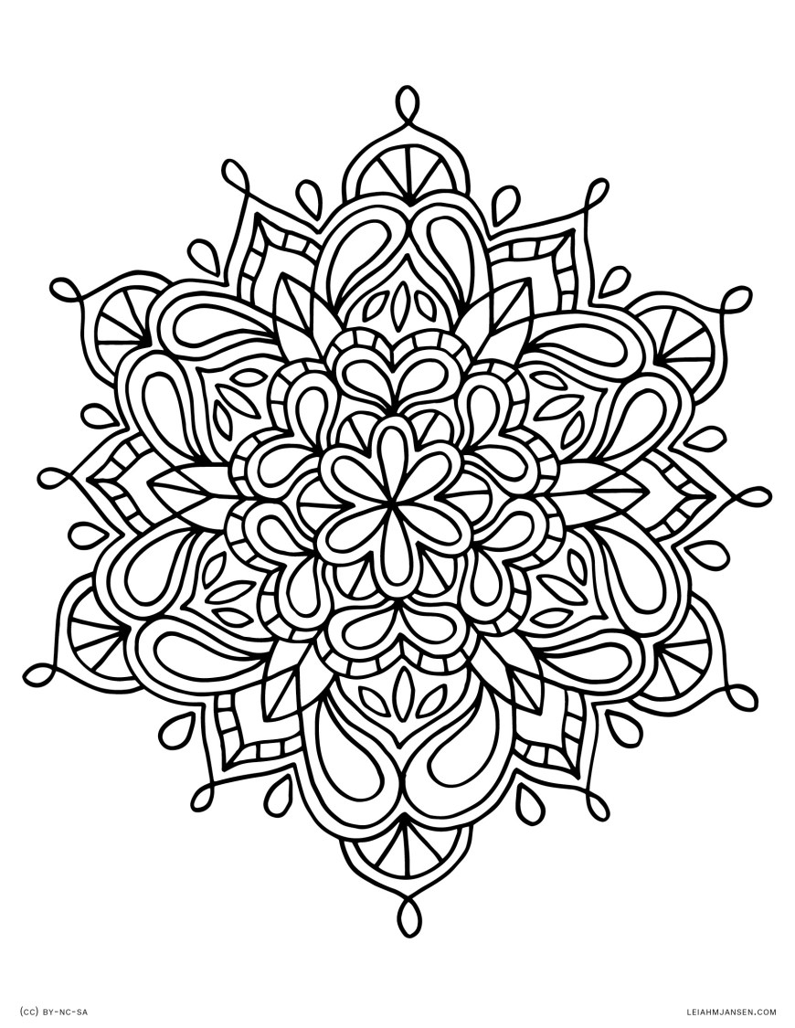 Coloring Pages Mandala Coloring Page Coloring Page Mandala Lmj 34 Mandala Coloring