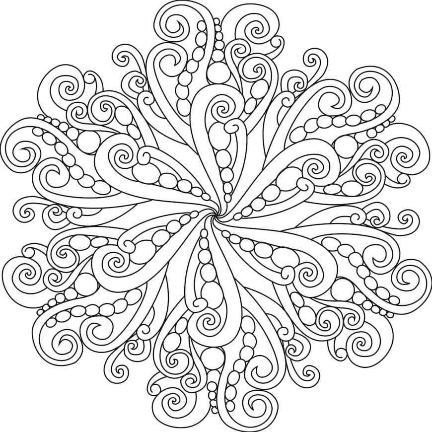 Coloring Pages Mandala Coloring Page Coloring Page Mandala Pages Just For You Naga Of The