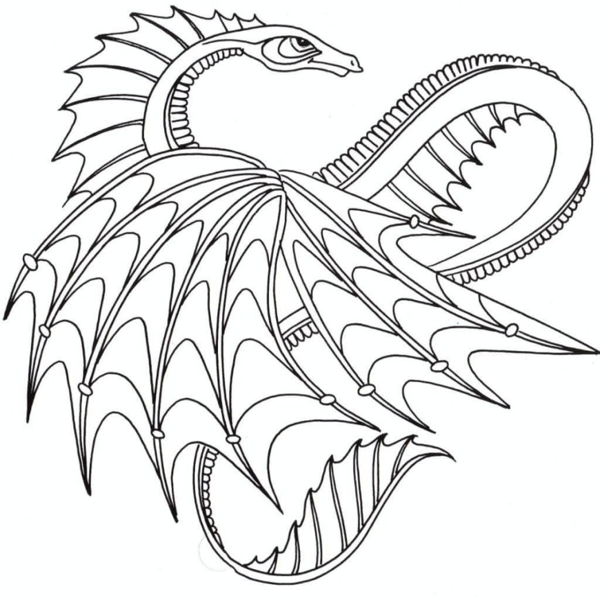 Coloring Pages Of Dragons Coloring Pages Dragons 32 Dragon Printable 4 Futurama