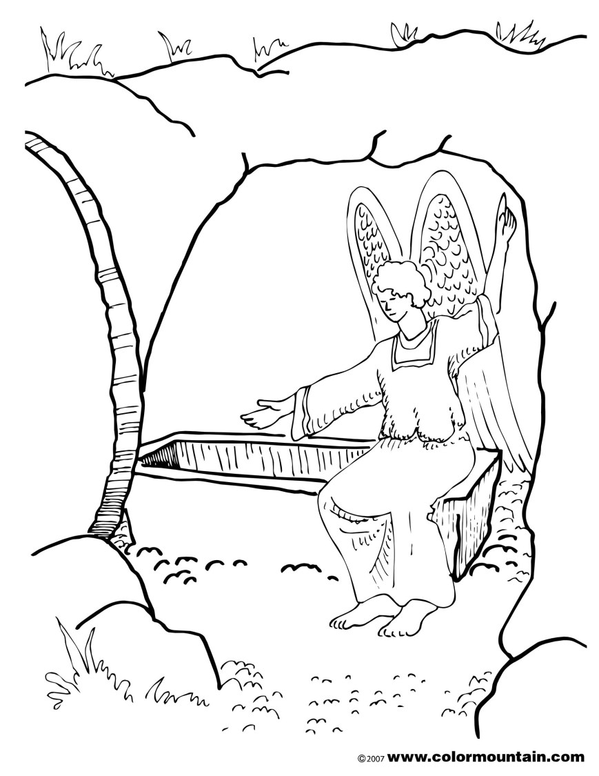 Coloring Pages Of Jesus Preschool Coloring Pages About Jesus Has Risen Awesome Coloring Page