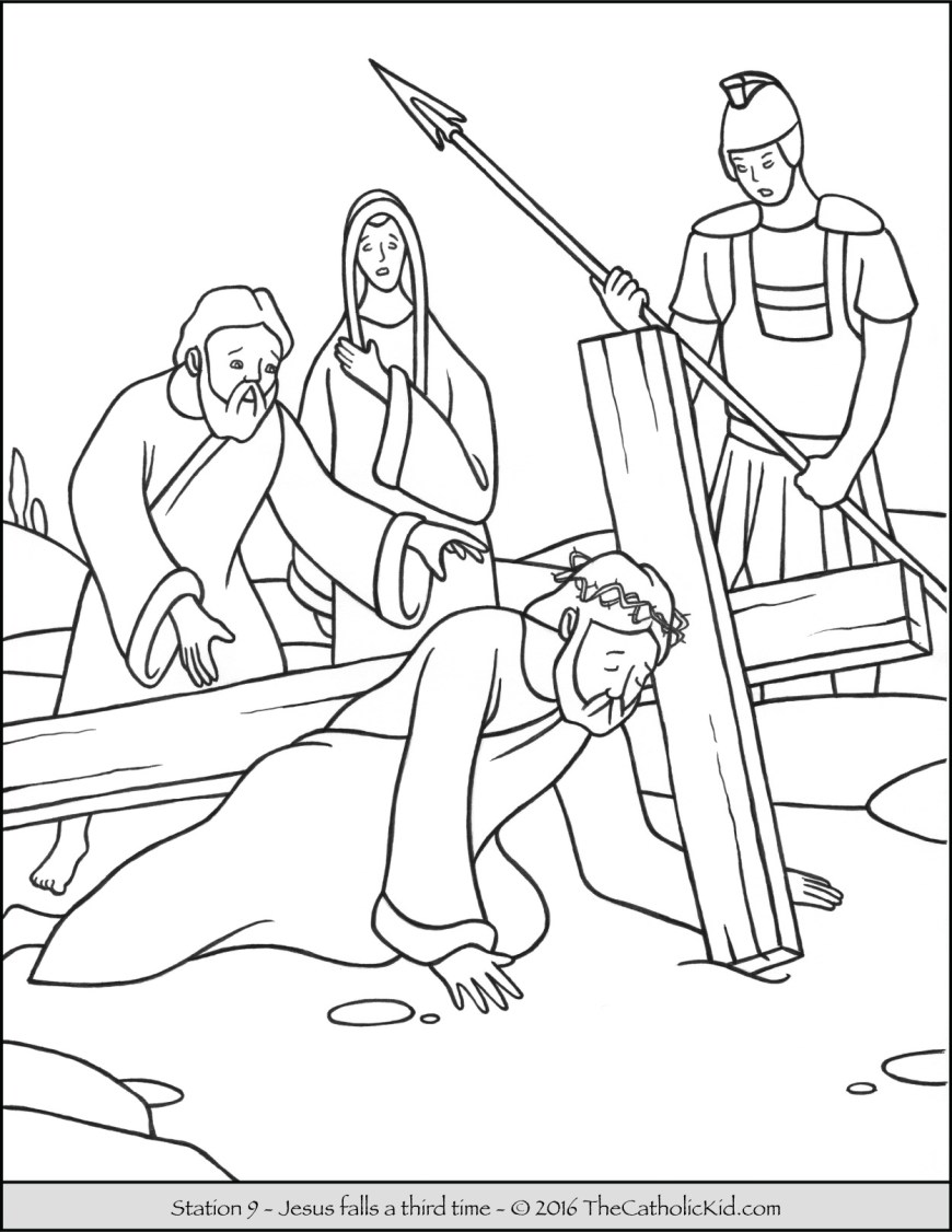 Coloring Pages Of Jesus Stations Of The Cross Coloring Pages The Catholic Kid
