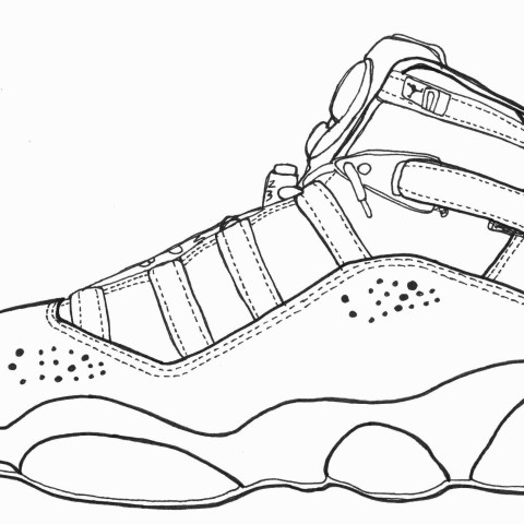 Coloring Pages Of Shoes Coloring Page Converse Shoes Coloring Page For Shoe Of Printable