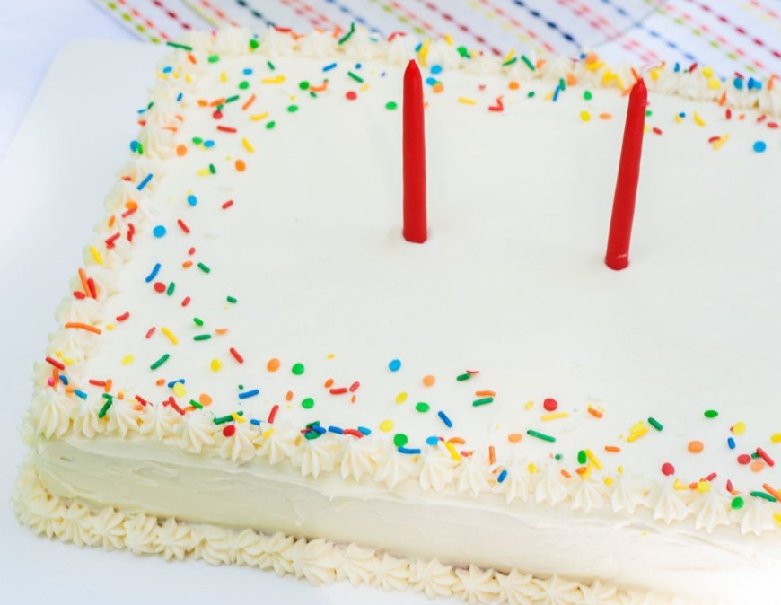Confetti Birthday Cake Confetti Sheet Cake Bit Bauble