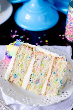 Confetti Birthday Cake Funfetti Cake From Scratch A Very Merry Unbirthday Sugar Spun Run
