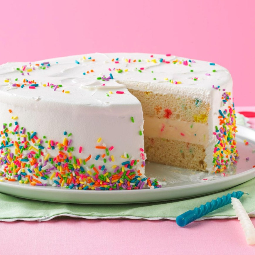 Confetti Birthday Cake Ice Cream Birthday Cake Recipe Taste Of Home