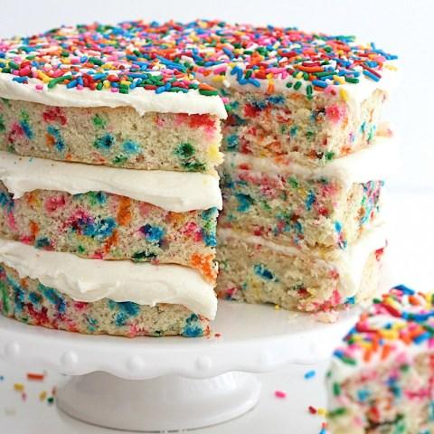 Confetti Birthday Cake Naked Confetti Cake The Bakermama