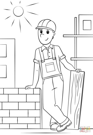Construction Coloring Pages Construction Worker Coloring Page Free Printable Coloring Pages