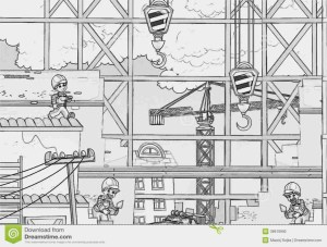 Construction Coloring Pages Man Building Wall In Building Construction Coloring Page Best