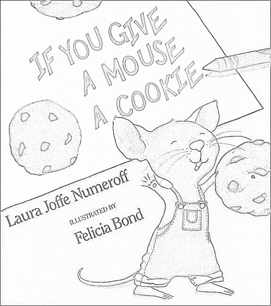 Cookie Coloring Pages If You Give A Mouse A Cookie Coloring Pa Coloring Pages And Books If