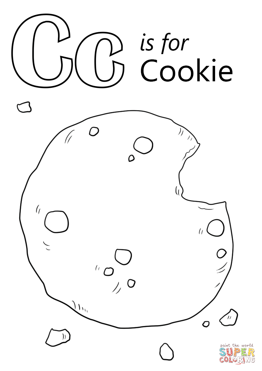 Cookie Coloring Pages Letter C Is For Cookie Coloring Page Free Printable Coloring Pages
