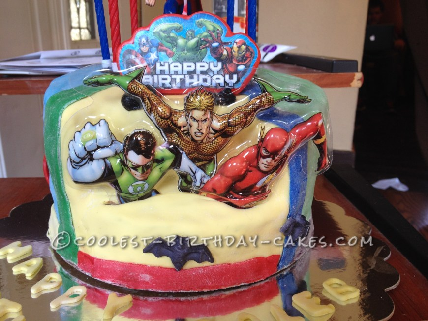 Cool Birthday Cake Cool Justice League Birthday Cake