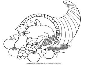 Cornucopia Coloring Pages 7 Pics Of Free Printable Cornucopia Coloring Pages Free