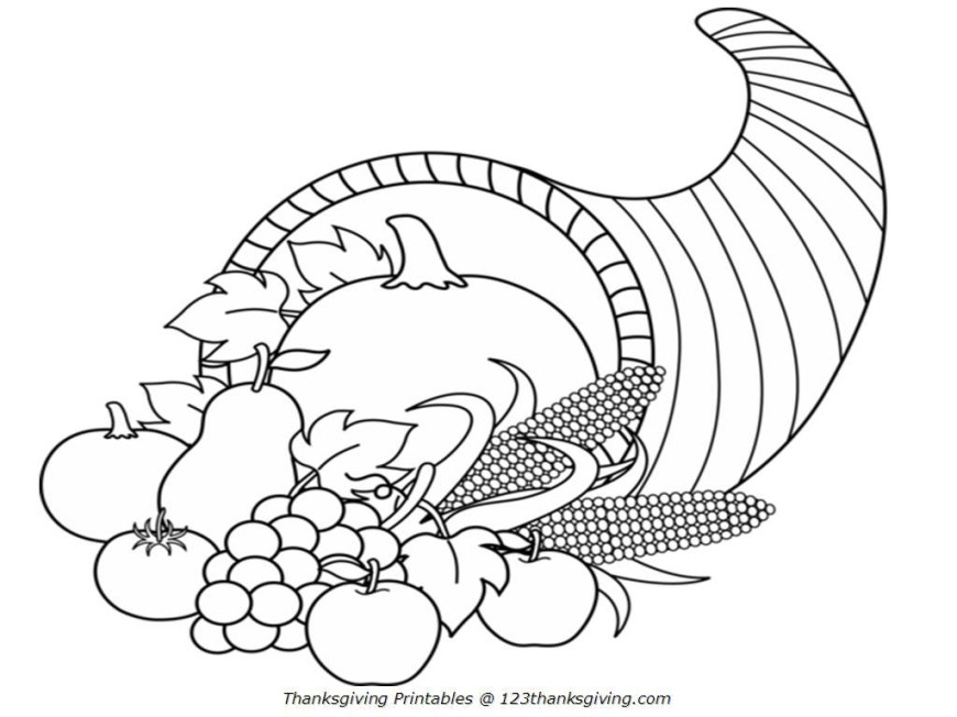 Cornucopia Coloring Pages 7 Pics Of Free Printable Cornucopia Coloring Pages Free