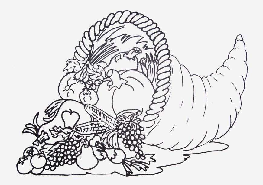Cornucopia Coloring Pages Empty Cornucopia Coloring Pages Printables Sketch Coloring Empty