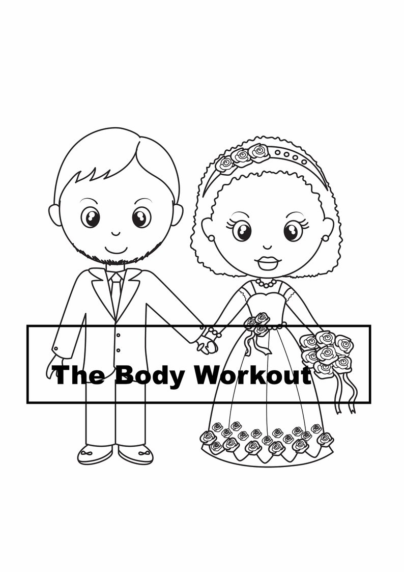 Couple Coloring Pages Interracial Couple Coloring Page Wedding Coloring Book Etsy