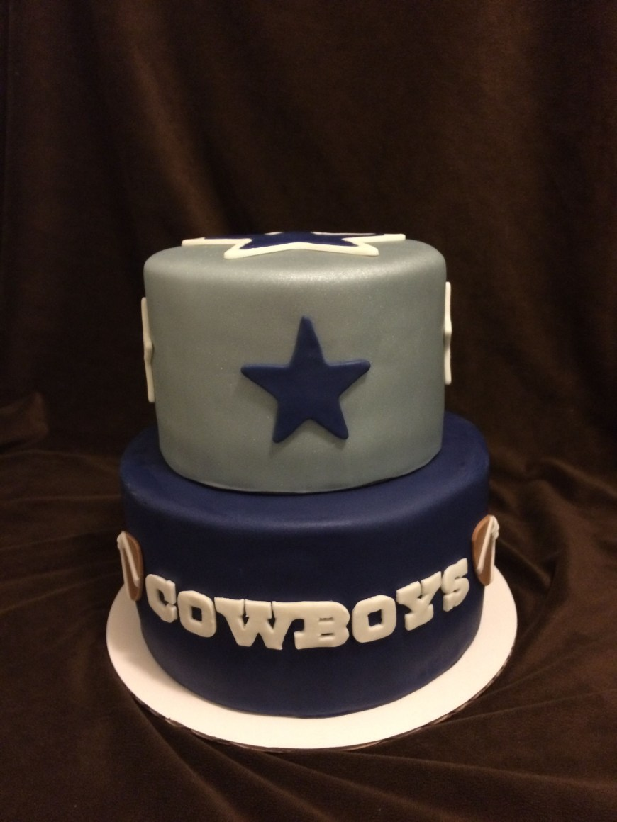 Cowboys Birthday Cake 2 Tier Dallas Our Cakes Pinterest