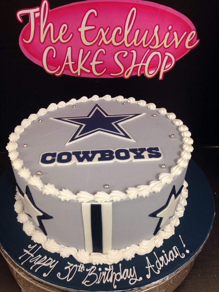 Cowboys Birthday Cake Adult Male Cakes Exclusive Cake Shop