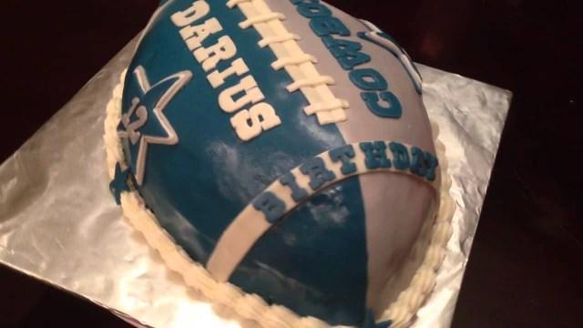 Cowboys Birthday Cake Dallas Football Youtube