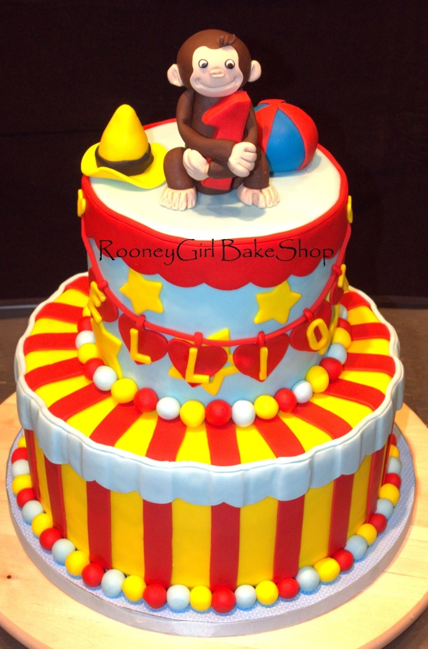 Curious George Birthday Cake Curious George 1st Birthday Cake Cakecentral