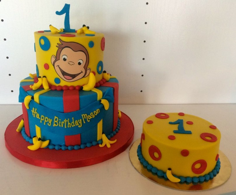 Curious George Birthday Cake Curious George One Belle Bakery Cakes In 2018 Pinterest