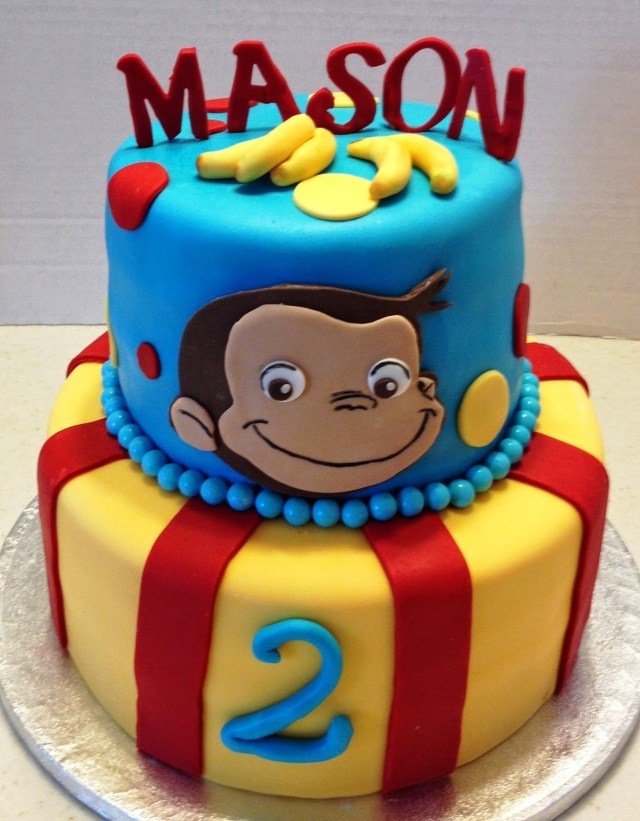Curious George Birthday Cake Marymel Cakes A Curious George 2nd Birthday Birthday Pinte