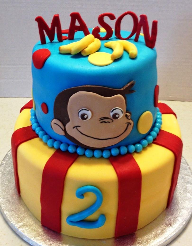 Curious George Birthday Cake Marymel Cakes A Curious George 2nd Birthday Birthday Pinte
