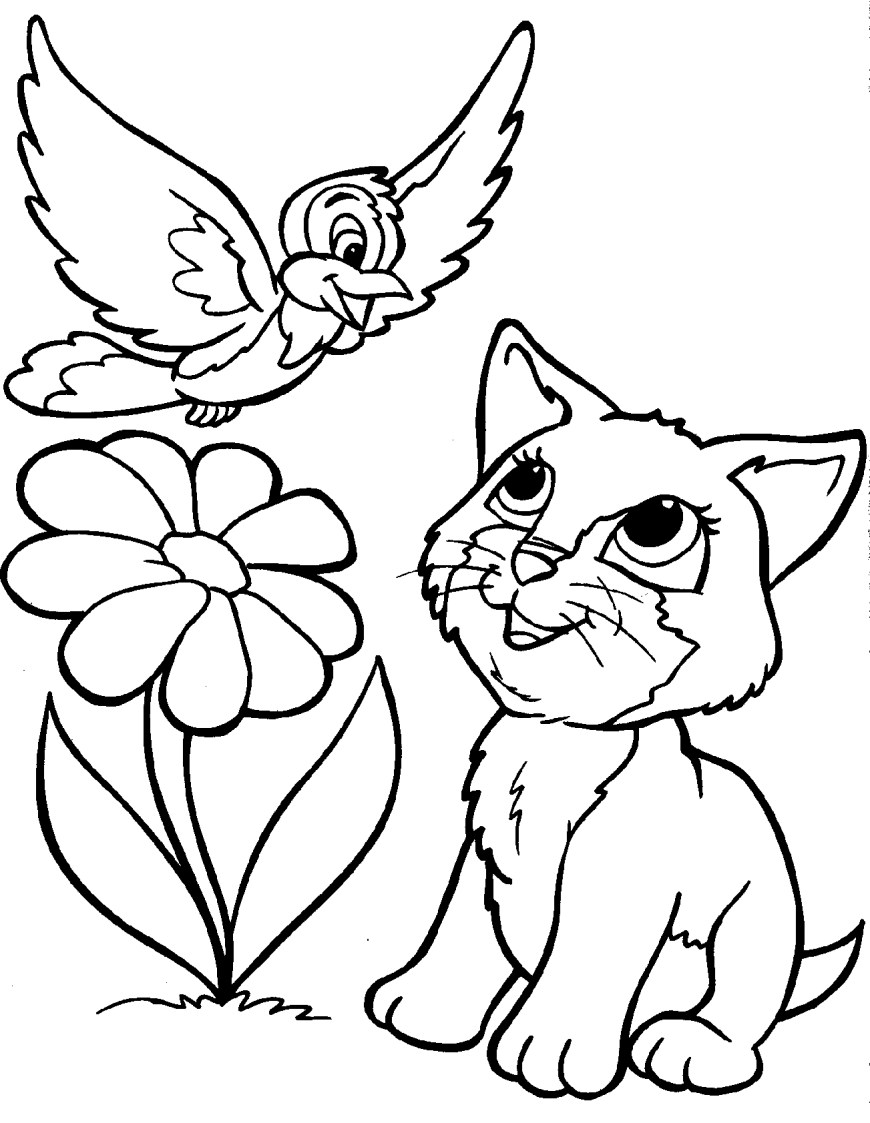 Cute Cat Coloring Pages New Cat Coloring Pages For Free Coloring Pages
