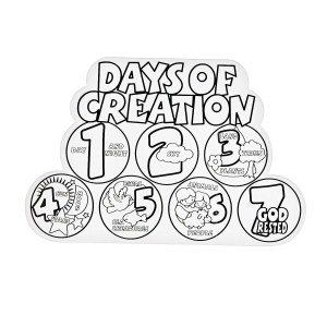 Days Of Creation Coloring Pages 7 Days Of Creation Coloring Pages For Kids And For Adults