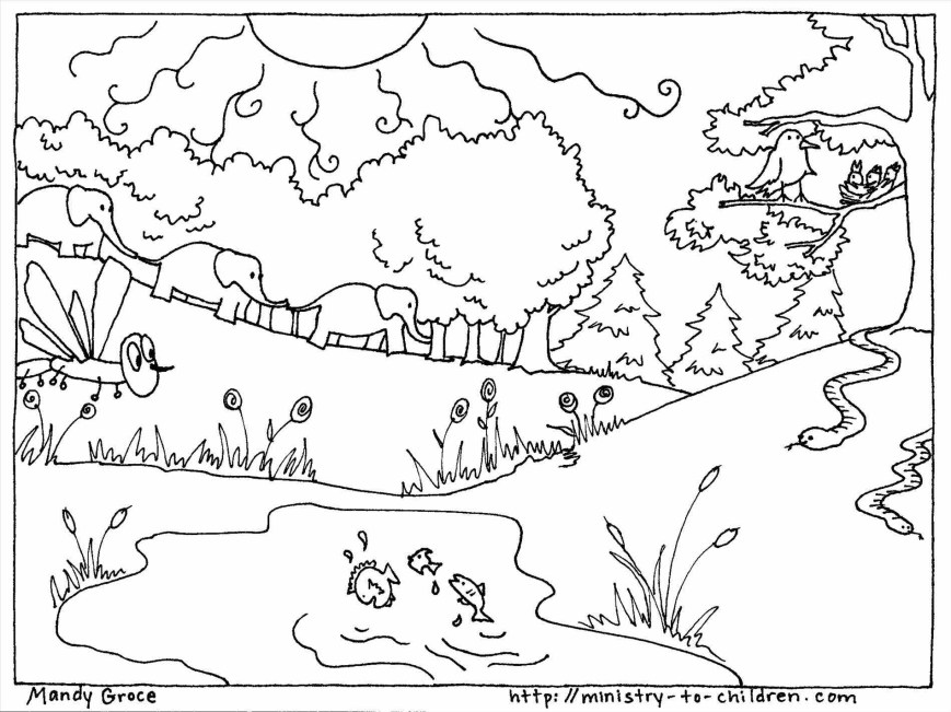 Days Of Creation Coloring Pages Creation Coloring Pages Ruva