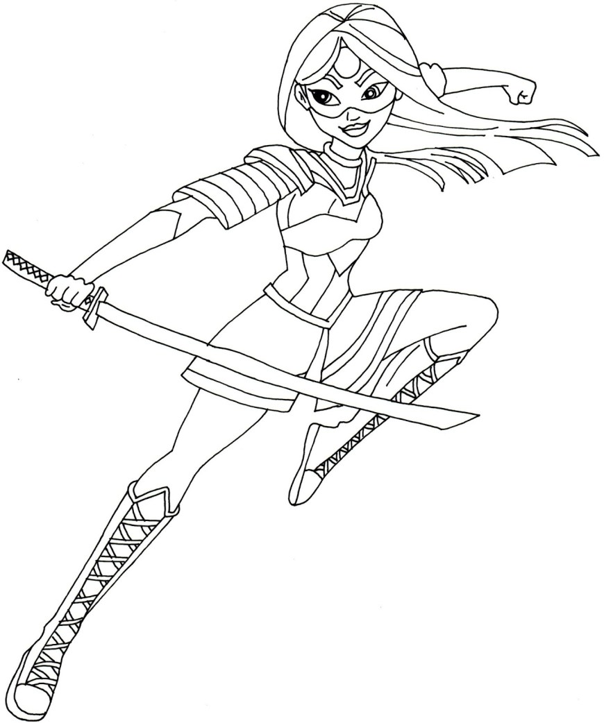 Dc Superhero Girls Coloring Pages Dc Superhero Girls Coloring Pages Poison Ivy