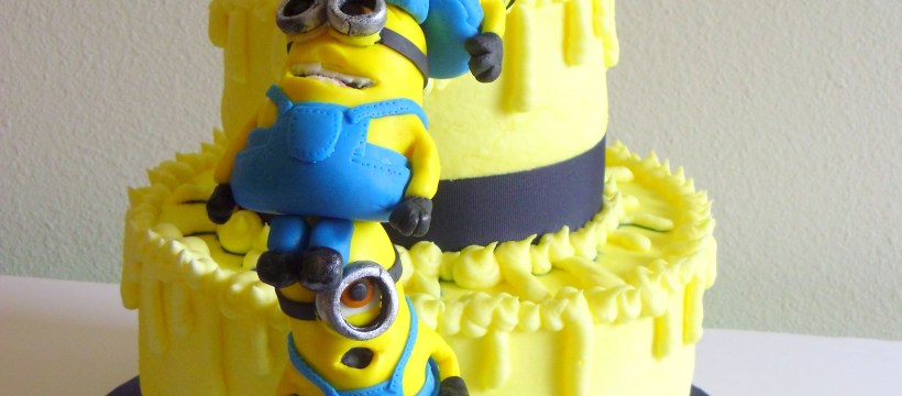 Despicable Me Birthday Cake Birthday Cakes Despicable Me Cake With Stacked Mmf Minions