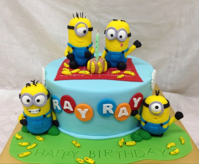 Despicable Me Birthday Cake Buy Online Dozing Despicable Me Birthday Cake For Kids From Guntur