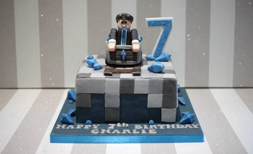 Diamond Birthday Cake Diamond Minecraft 7th Birthday Cake Bakealous
