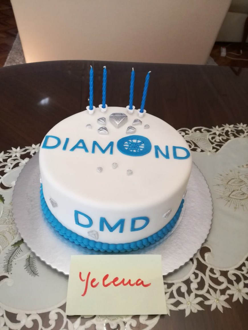 Diamond Birthday Cake Dmd Diamond Birthday Cake Competition 4 Years 13062017