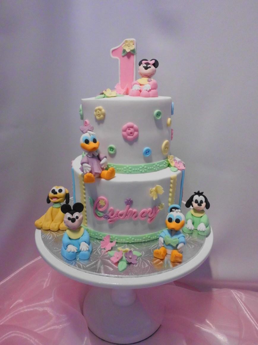 Disney Birthday Cake Disney Babies First Birthday Cake Cakecentral