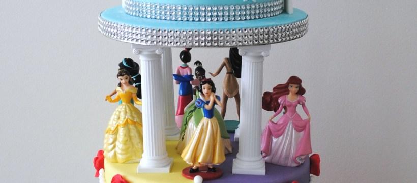 Disney Birthday Cake Disney Princess 3 Tiered Birthday Cake Cakes Pinterest Kuchen