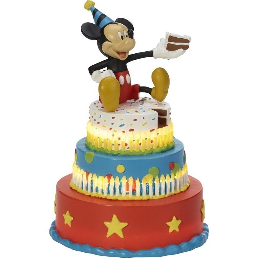Disney Birthday Cake Disney Showcase Mickey Mouse Birthday Cake Led Tabletop Figurine