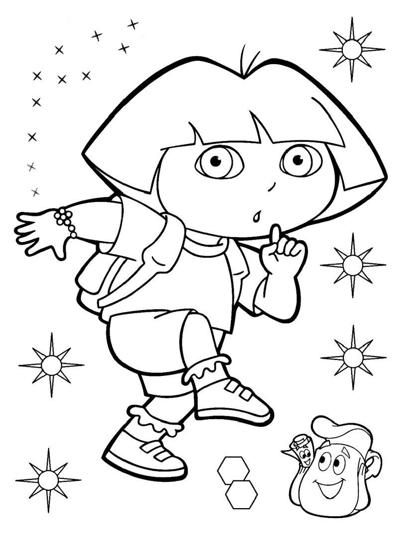 Dora Coloring Pages Dora The Explorer For Kids Dora The Explorer Kids Coloring Pages