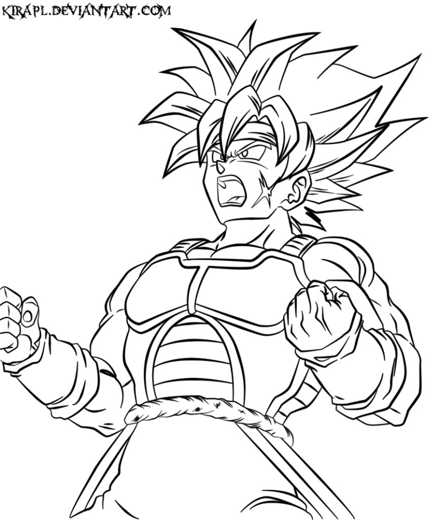 Dragon Ball Super Coloring Pages Dragon Ball Z Coloring Pages Bardock High Quality Coloring Pages
