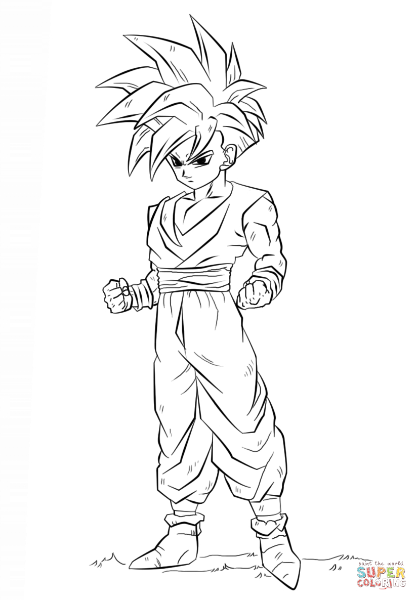 Dragon Ball Super Coloring Pages Dragon Ball Z Gohan Coloring Page Free Printable Coloring Pages