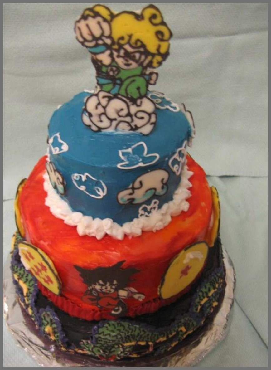 Dragon Ball Z Birthday Cake Dragon Ball Z Birthday Cake Astonishing 16 Best Images About