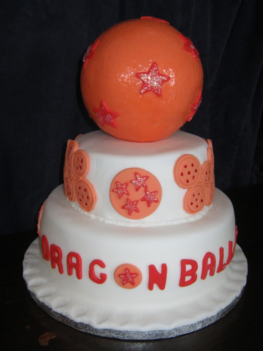 Dragon Ball Z Birthday Cake Dragon Ball Z Tiered Birthday Cake A Cartoon Cake Recipes On Cut