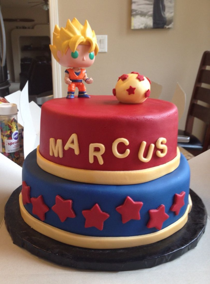 Dragon Ball Z Birthday Cake Dragonball Z Cake Had To Make This For My Ba While I Was Sick