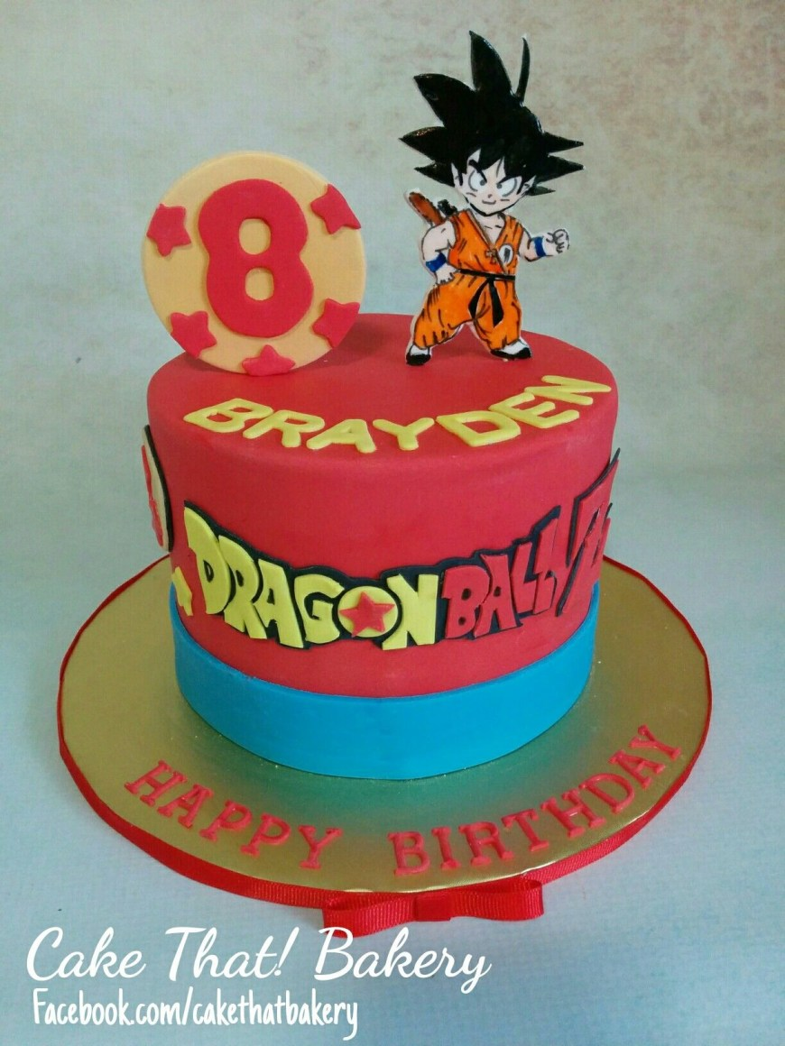 Dragon Ball Z Birthday Cake Dragonball Z Goku Birthday Cake Cakes And Goodies Pinterest