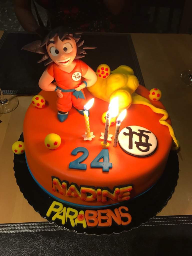 Dragon Ball Z Birthday Cake This Was My Birthday Cake For My 24 Years Dragonballz Amino