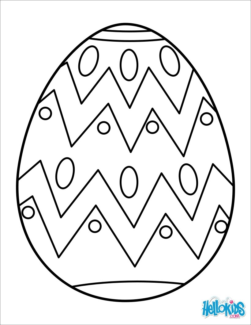 Easter Basket Coloring Pages Painted Easter Egg Coloring Pages Hellokids