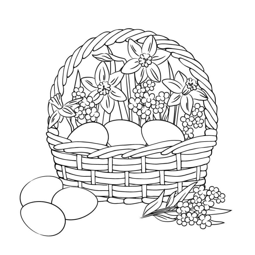 Easter Basket Coloring Pages Printable Easter Card And Gift Tag Templates Readers Digest