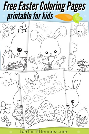Easter Coloring Pages For Kids Easter Coloring Pages For Kids Free Printable Fun For Little Ones