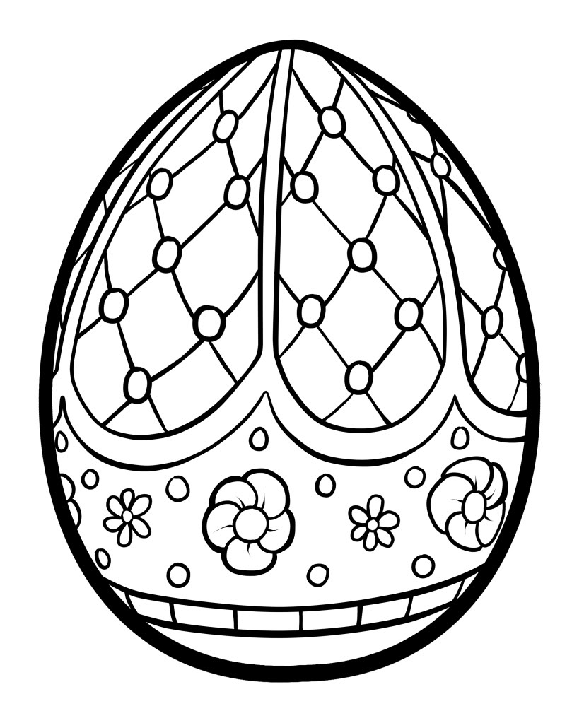 Easter Coloring Pages For Kids Easter Eggs Coloring Pages Printable Coloring Easter Coloring Pages