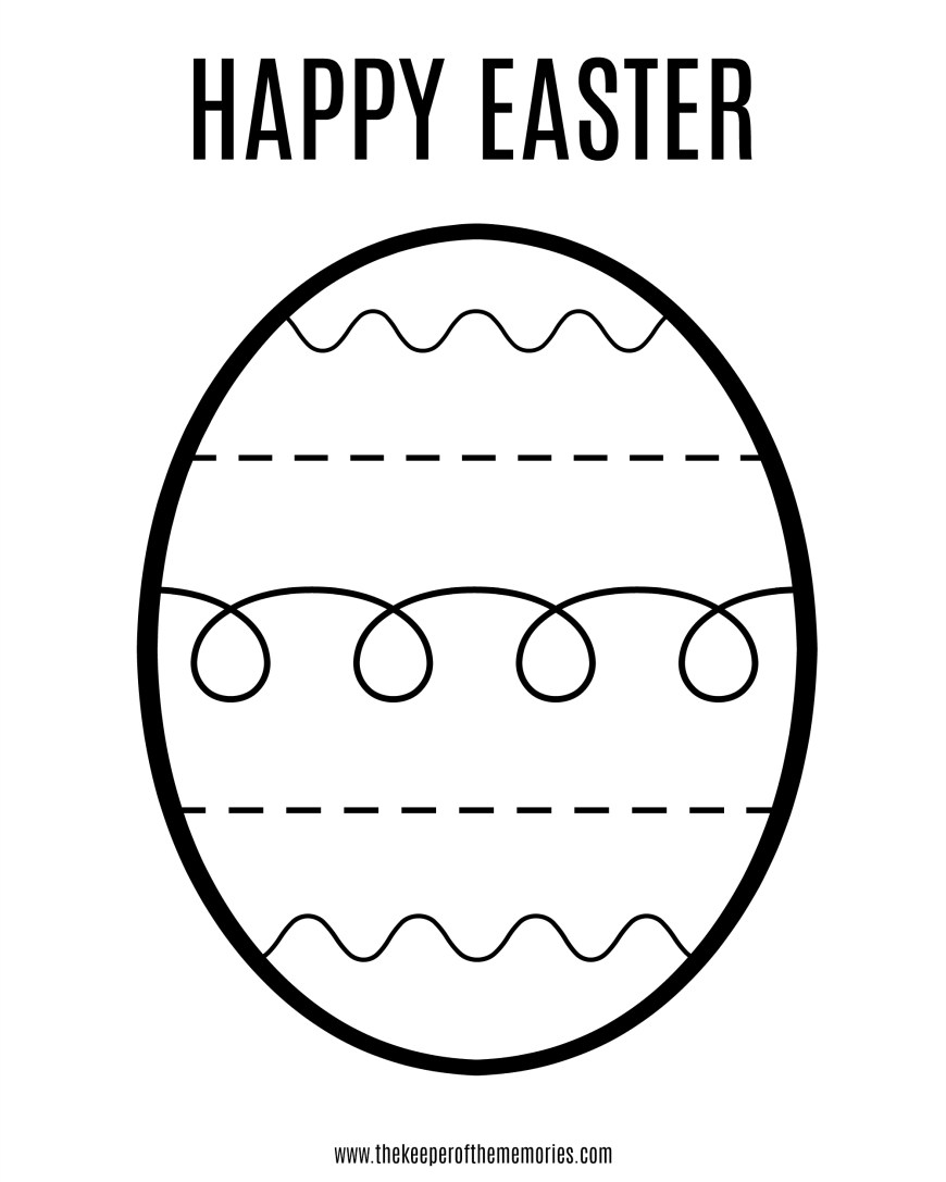 Easter Coloring Pages For Kids Free Printable Easter Coloring Sheet For Little Kids The Keeper Of